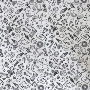 Rico - Black and white icons print