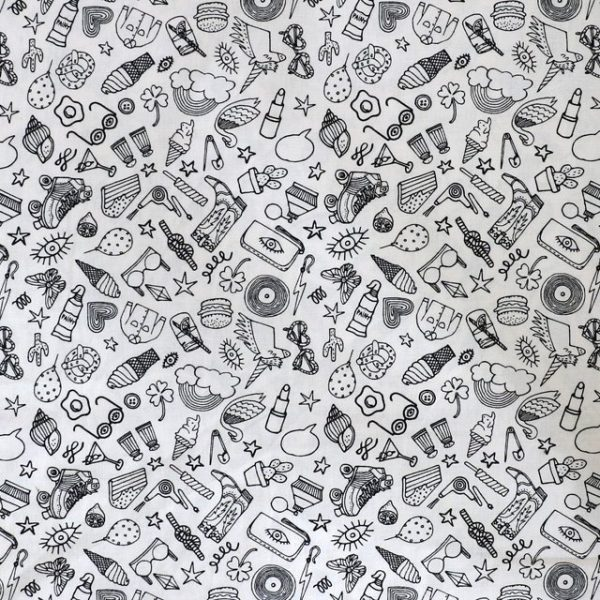 Rico - Black and white icons print