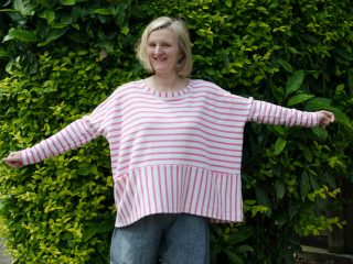 My handmade wardrobe – Sew Me Something Julia top with a small hack.