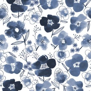Dashwood studios - Copenhagen, blue flowers
