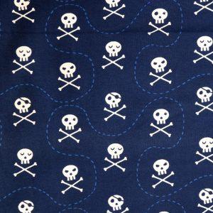 Navy skull print knit