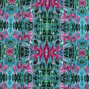 Green and pink ink print