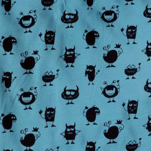 Teal monster print knit