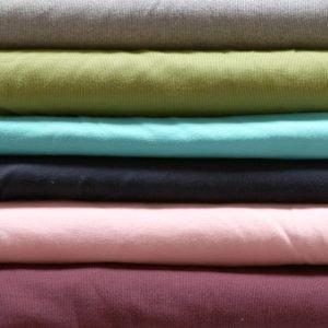 Cotton/elastane rib