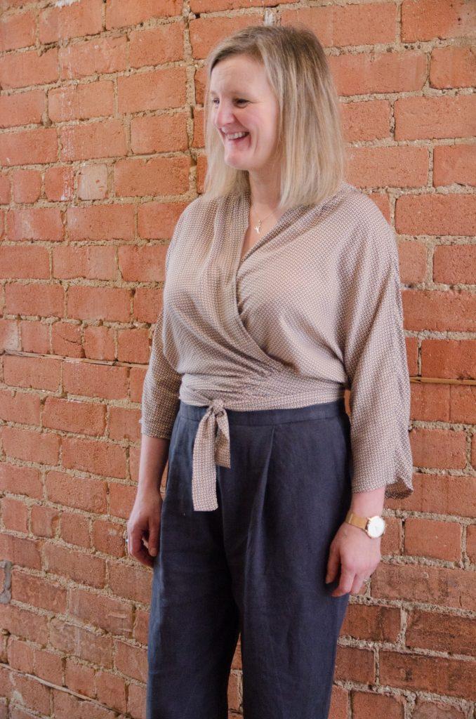 wraparound blouse