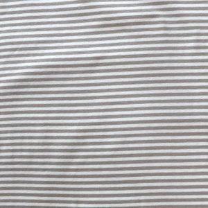 stripe rib fabric - 270gsm - beige/ivory