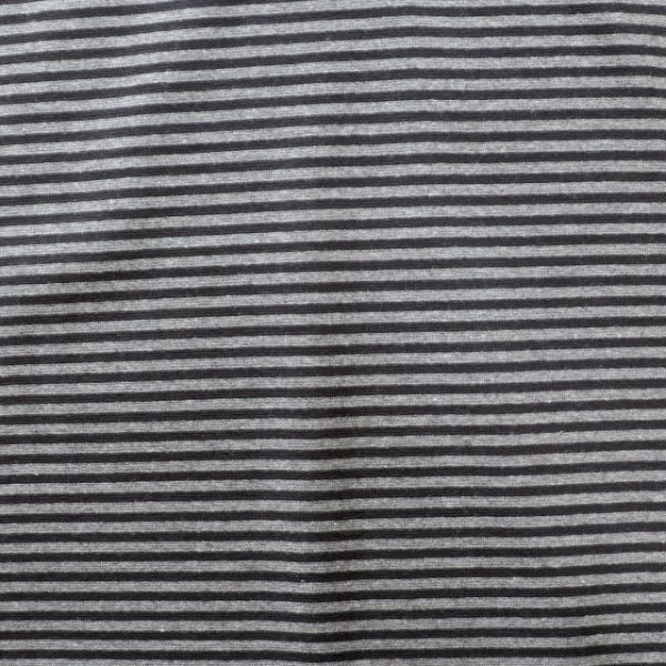 stripe rib fabric - 270gsm - black/grey
