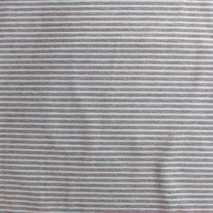 striped jersey fabric - grey marl/aqua