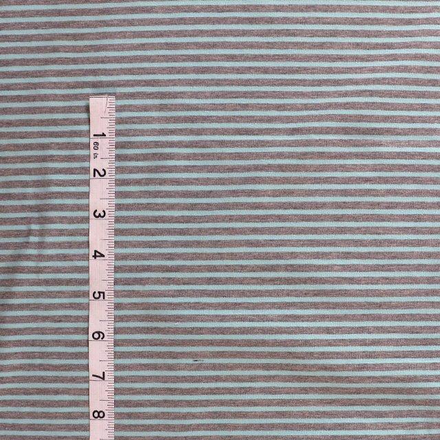 f55dae734c4 Cotton/elastane striped jersey fabric - grey marl/aqua - Bobbins ...