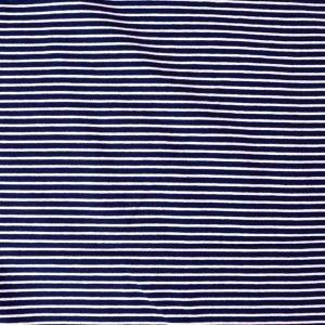 striped jersey fabric - navy/white
