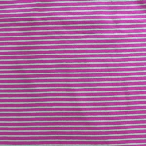 striped jersey fabric - hot pink/lime