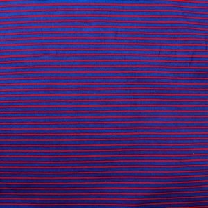 striped jersey fabric - red/navy