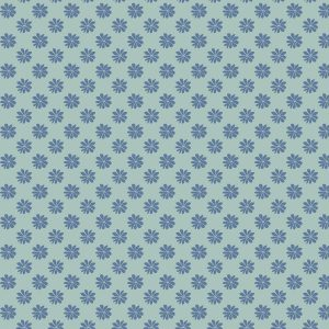 The English Garden - Floral dot, teal