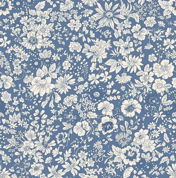 The English Garden - Emily silhouette, blue