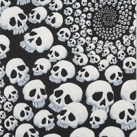 Alexander Henry -Skullfinity black and white