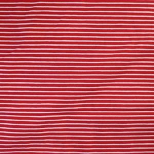 striped jersey fabric - red/white