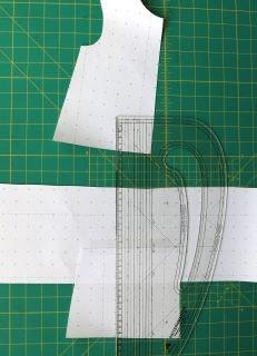 shorten a dress or top pattern