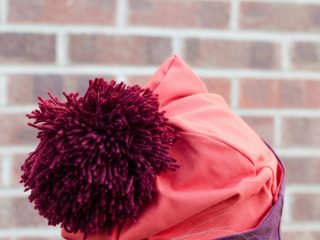 How to make a jersey pom pom hat for ladies, tutorial.