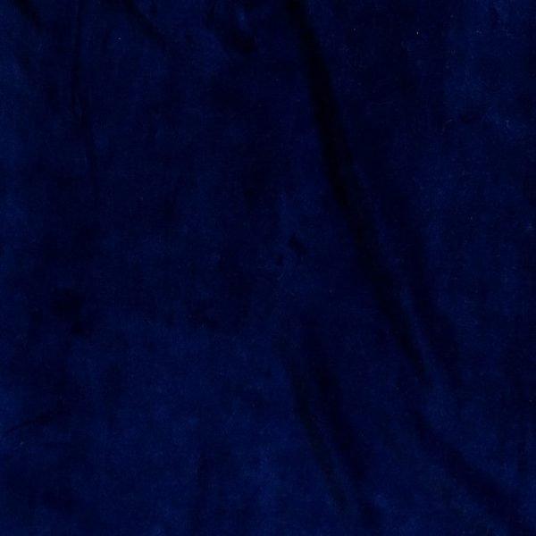 Stretch cotton velvet fabric - midnight blue