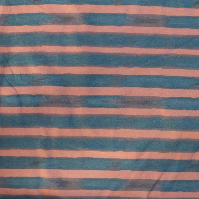 1519cc68df3 SALE-Jersey fabric – Navy and pink watercolour stripe print cotton-1.60m  piece