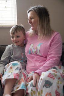 Appliqued jersey pyjama top
