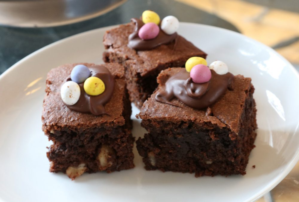 Easter chocolate brownies