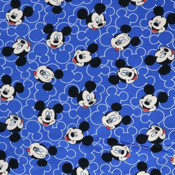 Mickey mouse face print knit