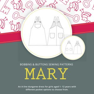 New dungaree dress sewing pattern
