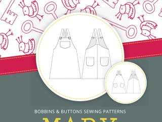Introducing Mary! – New dungaree dress sewing pattern for girls from Bobbins and Buttons.