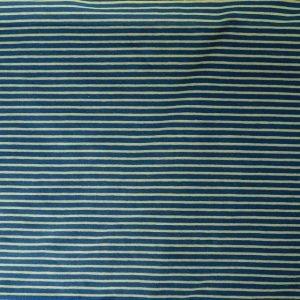 striped jersey fabric - dark blue/green