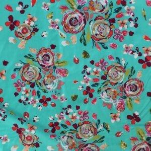 jersey fabric - Boho Fusion Swifting Flora Boho
