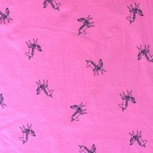 jersey fabric - Pink neon unicorn print
