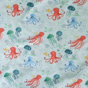medium weight jersey fabric - Octopus print