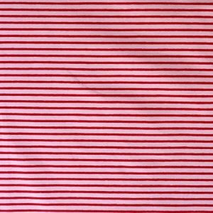 Cotton/elastane striped jersey fabric - pink/red