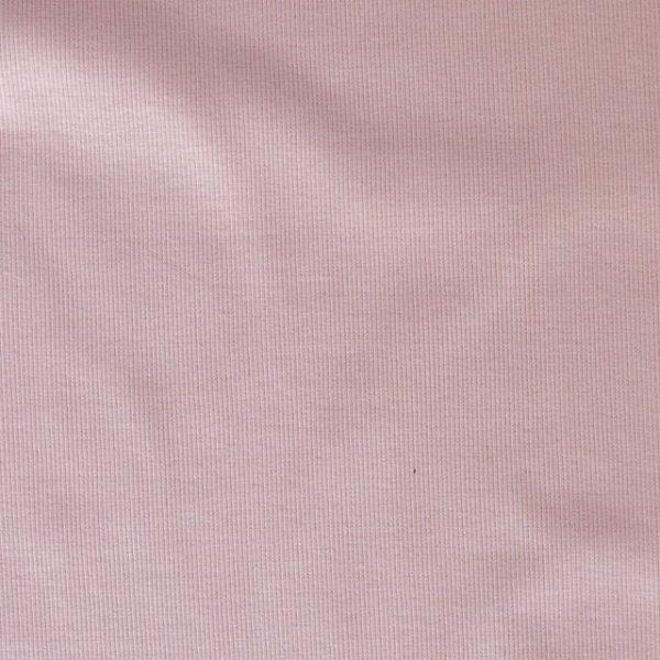 Cotton/elastane ribbing fabric - Pale pink