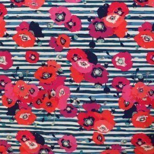 jersey fabric -Skopelos Paparounes Crimson