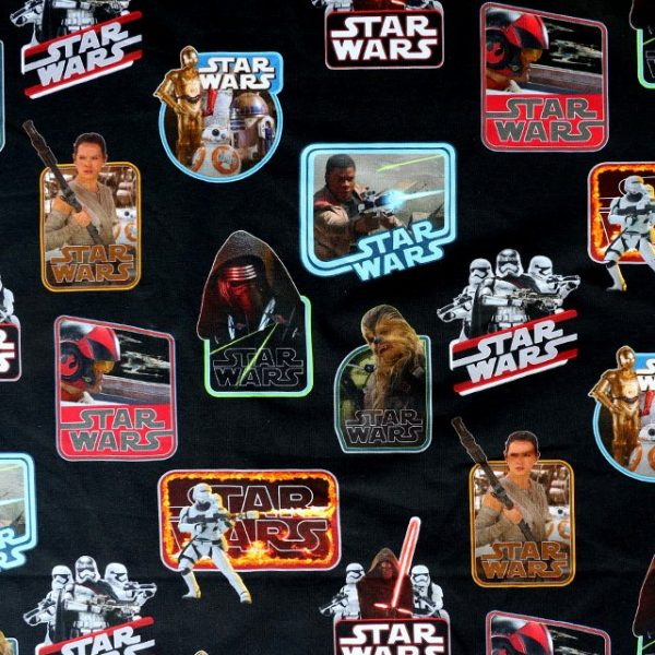 medium weight jersey fabric - Star Wars print