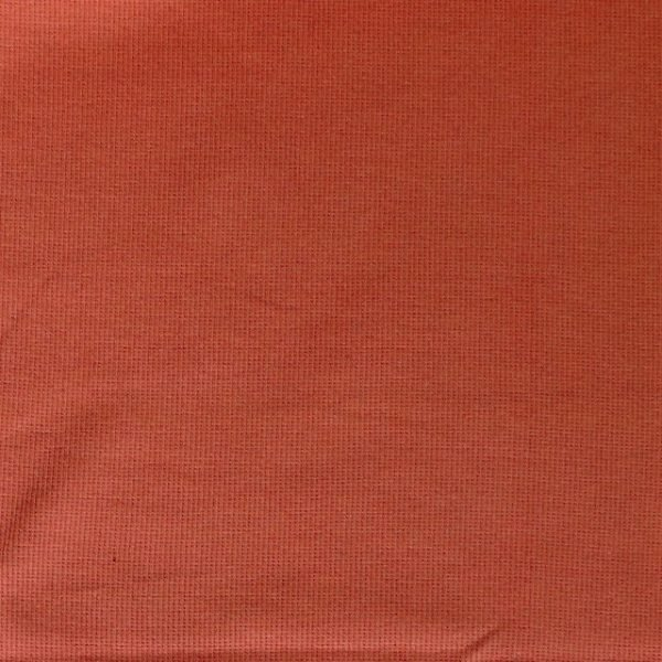 Cotton/elastane ribbing fabric - Terracotta