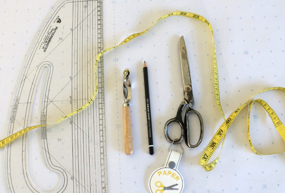 tracing a dressmaking pattern