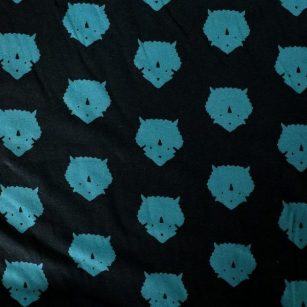 jersey fabric - Triceratops petrolium from Esoterra