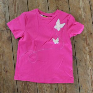 t-shirt with butterfly applique - age 3-4 years