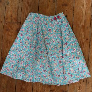 skirt - Blue Floral- 4-5 Years