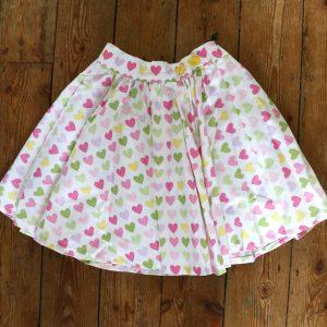 skirt - Pastel Love Heart- 3-4 Years