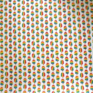 Coated cotton - Ice cream printed fabric