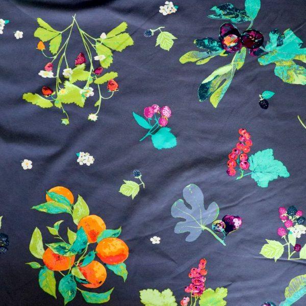 jersey fabric - Frutteria Bleu Knit from Mediterraneo