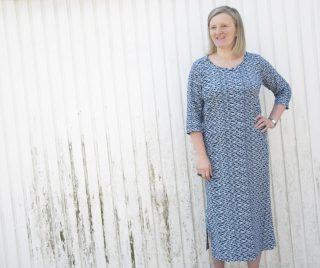t-shirt dress, Bobbins and Buittons