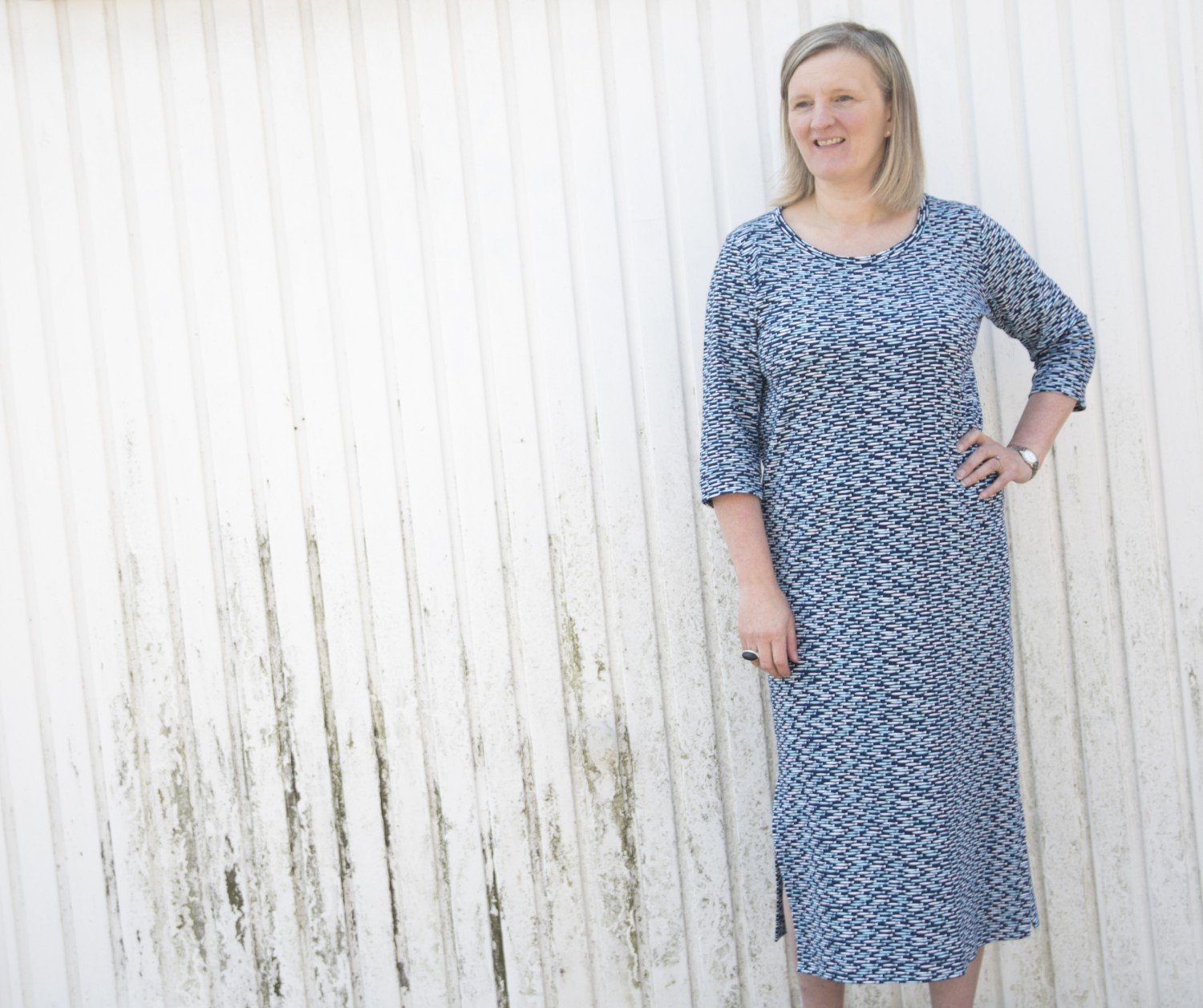 9963f0152de An easy self-drafted jersey t-shirt dress. - Bobbins & Buttons % %