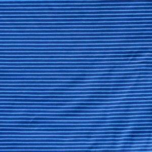 Stripe cotton/elastane navy/royal jersey fabric