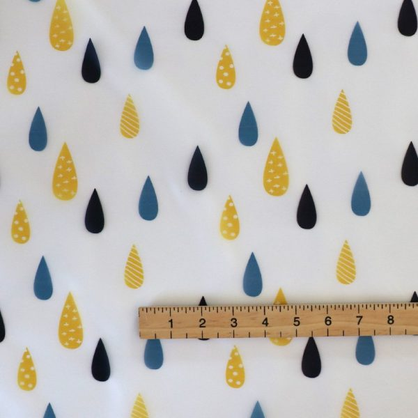 Transparent rain proof, raindrop print fabric.
