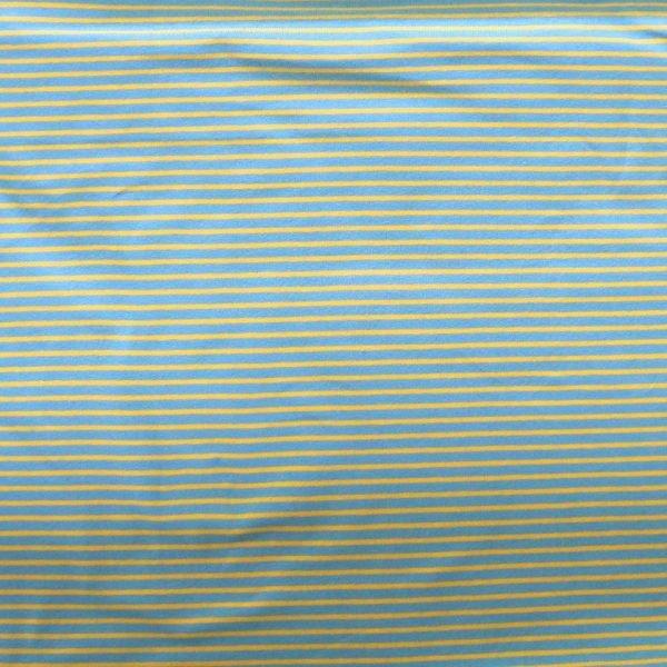 Stripe cotton/elastane jersey fabric